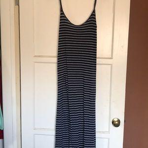 blue life navy stripped maxi dress